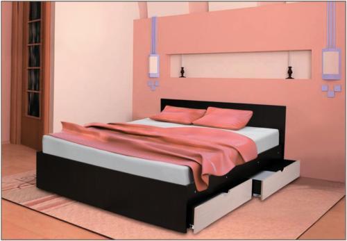 Кровать с ящиками 1