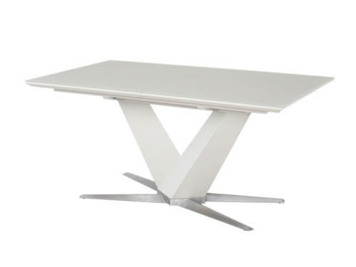 Стол  POINT (1600-2100x900x760) MOKKA (сатин мокка) table 1