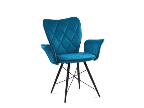 Стул PRIMA BLUE (синий) с подлокотниками 1
