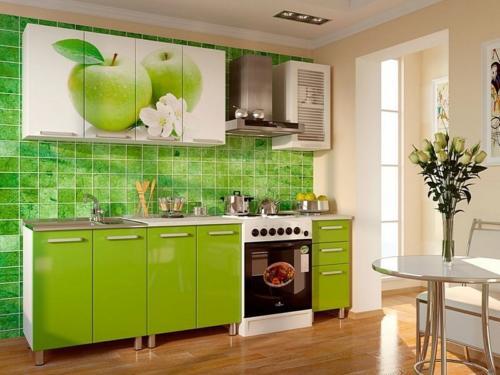 Кухня с фотопечатью-003