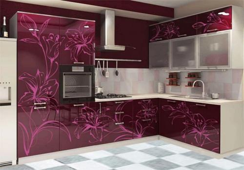 Кухня с фотопечатью-011