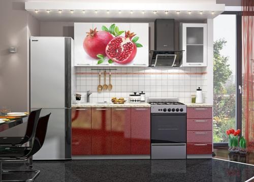 Кухня с фотопечатью-012