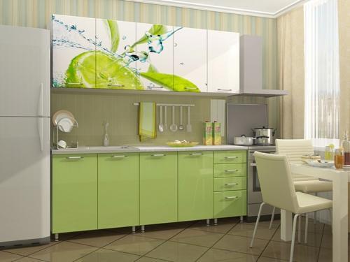 Кухня с фотопечатью-014