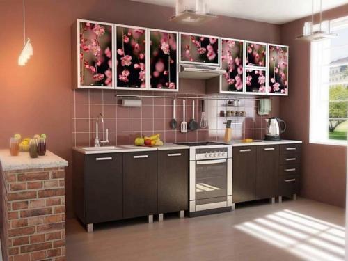Кухня с фотопечатью-017