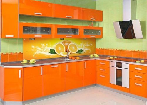 Кухня с фотопечатью-019