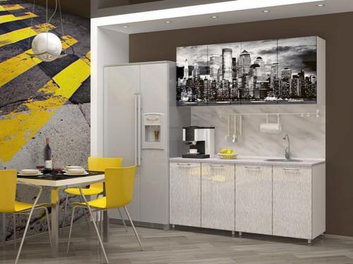 Кухня с фотопечатью-026