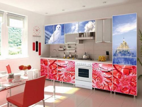 Кухня с фотопечатью-028